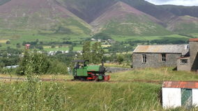 在山风景的蒸汽机车 股票录像