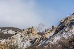 在山13的冬天 免版税库存照片