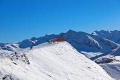 在山滑雪胜地坏Gastein -奥地利的观点 免版税库存图片