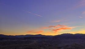 在山Khizi的日落 阿塞拜疆 免版税图库摄影