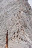 在山Pirin的Koncheto峰顶 免版税库存照片
