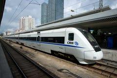 在岗位的中国高速火车 库存照片