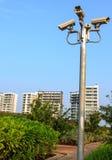 在岗位的CCTV 免版税库存照片