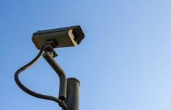 在岗位的CCTV 免版税库存图片