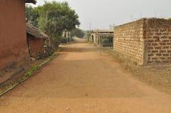 在岗位选举危机期间的空的街道 库存图片