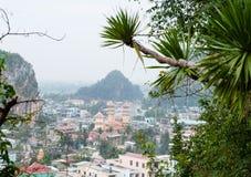 在岘港大理石镇的看法 免版税库存照片