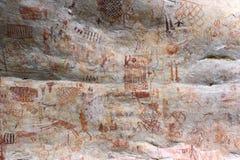 刻在岩石上的文字在哥伦比亚 库存照片