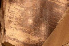 刻在岩石上的文字或岩石艺术雕刻在Freemont,犹他 免版税图库摄影