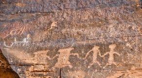 刻在岩石上的文字,内华达 库存图片