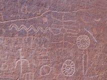 刻在岩石上的文字 库存图片