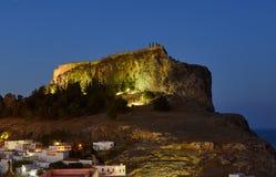 在岩石上面的中世纪设防 免版税图库摄影