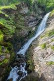在岩石和草内的瀑布 库存照片