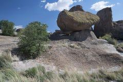 在岩石国家公园Cit的平衡的岩石  图库摄影