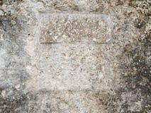 在岩石墙壁的版本记录 库存图片