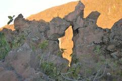 在岩石的一只眼睛 库存图片