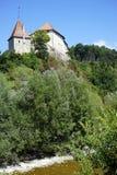 在岩石的城堡 库存照片