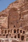在岩石的寺庙在古城Petra在约旦 图库摄影