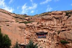 在岩石的寺庙 图库摄影