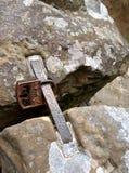 在岩石的挂锁 免版税图库摄影