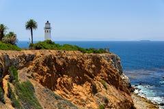 在岩石的灯塔,洛杉矶,加利福尼亚 库存照片