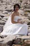 在岩石的爱 免版税图库摄影