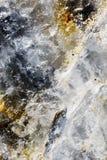 在岩石的矿物 库存照片