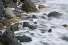 在岩石的通知 库存照片