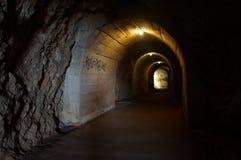 在岩石的长的隧道段落的向海 免版税库存图片
