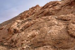 在岩石的巴巴里人标志在阿特拉斯山脉,摩洛哥 图库摄影