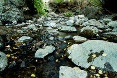 在岩石的水 免版税图库摄影