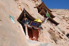 在岩石兴建的寺庙 免版税图库摄影