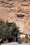 在岩石兴建的寺庙 库存图片