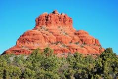 在岩石sedona附近的亚利桑那响铃 库存图片