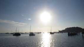 在岸的早晨 免版税库存照片