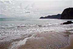 在岸的波浪 库存图片