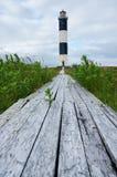 在岸的灯塔 库存照片