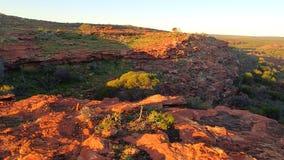 在峡谷的下午太阳 免版税库存照片