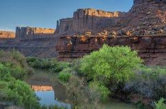 在峡谷的清早光,美国西南 库存图片