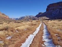 在峡谷的路 库存图片