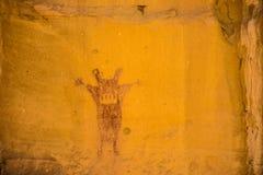 在峡谷Pintado全国历史区, Rangely科罗拉多的监护人象形文字 库存照片