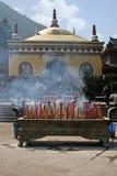 在峨眉山的Wannian寺庙砖霍尔 免版税图库摄影