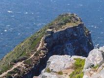 在峭壁的路在开普角在南非 库存图片