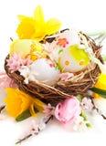 在嵌套的复活节彩蛋 库存照片