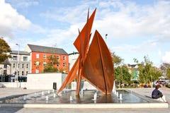 在巡回广场,戈尔韦爱尔兰的第五百年喷泉 免版税库存图片