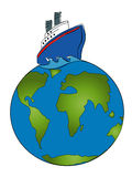 在巡航世界范围内 免版税库存图片