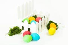 在巢的鸡蛋复活节的 库存照片