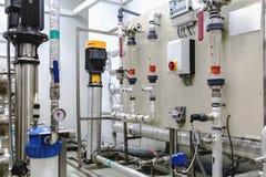 在工业制药的控制板设备 库存图片