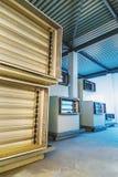 在工业制药manufactur的车厢空调设备 库存图片