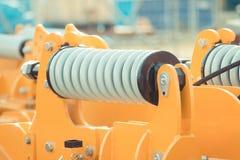 在工业或农机、技术和工程学概念的钢春天 库存图片
