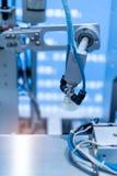 在工业机器的气动力学的活塞吮吸者单位 库存图片